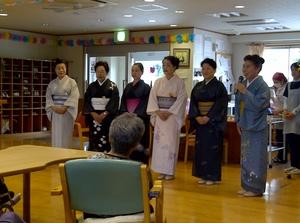 本日のボランティアさん、由紀舞会の皆さんが日本舞踊を御披露くださいました。
